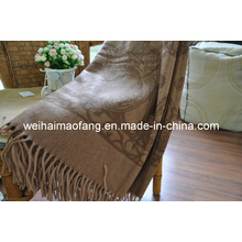 Тканый шерстяной бахромой шерсти путешествия броска (NMQ-WT043)