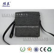 Grey color felt single shoulder bag