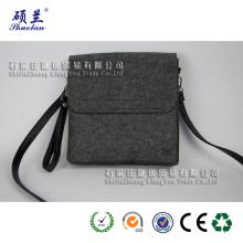 Saco de ombro de feltro de cor e design personalizado