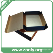 Metallic Golden Paper Gift Box / Rigid Cardboard Folded Box