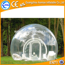 2016 Outdoor camping clear inflatable bubble lawn dome tent for sale