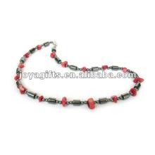 Magnetische Hämatit Corallite Perlen Halskette
