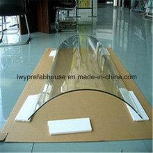Gekleurde/Clear getemperd gebogen glas voor bouw en decoratie (LWY-TG08)