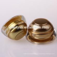 Domed Golden Cosmetic Packaging Frascos de Creme Acrílico 5G 15G 30G 50G