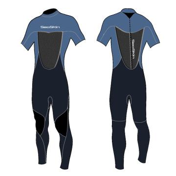 Seaskin 2mm Fine Skin Short Sleeve Spring Wetsuit