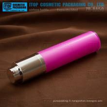 ZB-RA50 pompe de 50ml lotion rotatif rond grand et mince en plastique 50ml cosmétique plastique de bonne qualité sans air