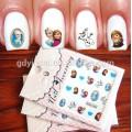 Модные DIY творческий Стиль наклейки ногтей татуировки