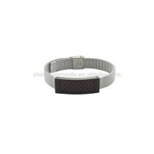 10mm faixa de aço inoxidável unissex assisti com pulseira de fibra de carbono vermelho