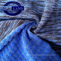 Changshu textile CD polyester jacquard  melange spandex terry fleece fabric for tracksuit