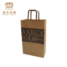Made In China Custom Printing Strong Handle Recycled French Bread Food Kraft Paper Bag For Bakery