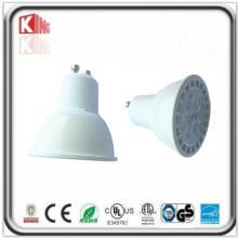 Lámpara de alto lumen 7W SMD LED GU10 en carcasa blanca
