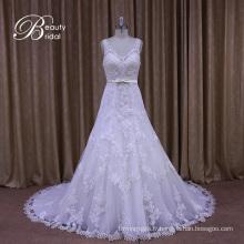 Voir à travers les styles de robe de mariée en ligne A-ligne col en V
