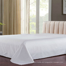 100% Baumwolle Plain White Bed Flat Sheet Hersteller (DPF1056)