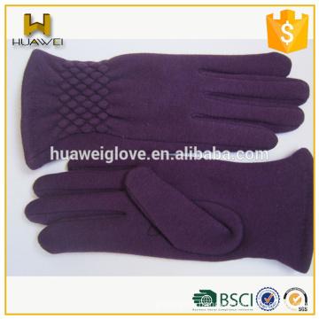 Trending Smartphone 100% Wool Cute Soft Wool Gloves for Ladies Winter
