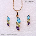 62167-Xuping Elegant Costume Jewelry Set Fashion Jewelry Design
