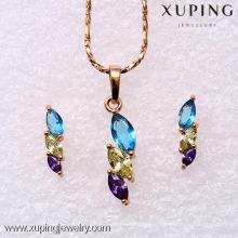 62167-Xuping élégant ensemble de bijoux de fantaisie