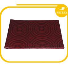 Fábrica de diseño personalizado de alta calidad color vino seda tela de brocado jacquard bazin
