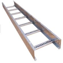 Bandeja de cable tipo escalera de malla de alambre de acero