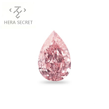 ForeverFlame 13ct fancy pink  Pear Cut huge  diamond CVD CZ colorful Moissanite