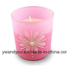 Scented Soy Birthday Gift Candle in Pink Glass