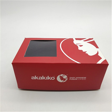 Takeout To Go Paper Sushi Box z oknem