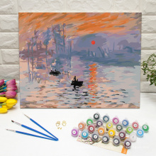 Masterpiece Paint By Numbers Kits For Adults Sunrise by Monet