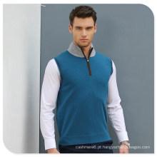 Colete de suéter de cashmere 2017 novo estilo homem