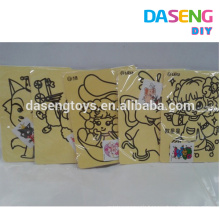 Supply sand art sticker cardboard kids toy size at A4 and A5