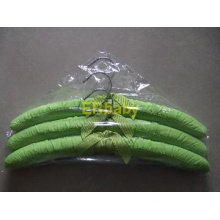 Canvas padded hanger green