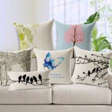 Маленькая хлопковая подушка Fresh Garden Butterfly Forest / Chshion