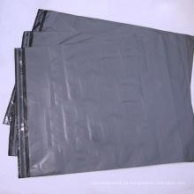 Saco de plástico poli cinzento personalizado