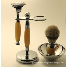 Top-Qualität Sable Haar Rasieren Pinsel Kit
