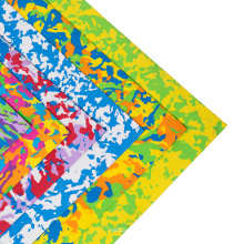 non toxic factory price thick and soft assorted color eco- friendly goma sponge crafting  camouflage craft foam sheet