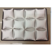 Wooden Leather Jewelry Bracelet 12 Pillows Watch Tray Wholesale (JP Serie)