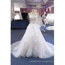 Custom Made Beading Organza Partido Prom Brdial Vestidos De Casamento