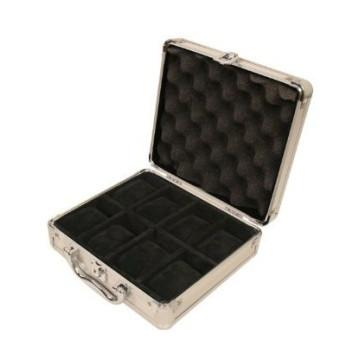 Корпус часов 18 часов коллекторов Алюминиевый чемоданчик с ручкой