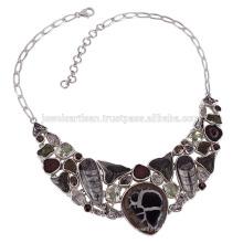 Fossilien Shar Teath Septarian Orthocereous Sterling Silber Halskette im besten Preis