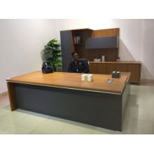 Mesa ejecutiva ejecutiva de lujo CEO Furniture Furniture con gabinete (FOH-R2420-B)