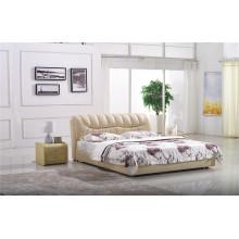 Modernes Schlafzimmermöbel-Leder-Bett