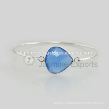 Wholesale Supplier For Handmade Chalcedony Gemstone Latest Design Daily Wear Bangle