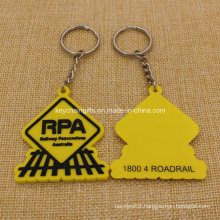 High Quality Railway Possessions 2D PVC Key Chain