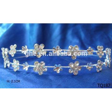 Nuevo hairband y tiara del rhinestone de la venta al por mayor de la manera