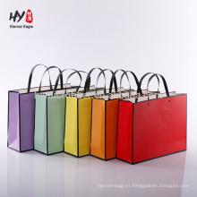 bolsa de asas de papel de sensación de las compras de la moda