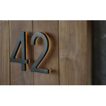 Nombre en métal de supermarché de chambre d'hôtel de numéro de Chambre d'intérieur
