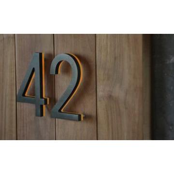 Número interno do metal do supermercado da sala de hotel do número da casa