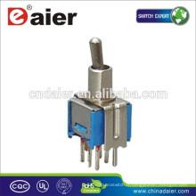 Daier SMTS-202 / 203-2C2T DPDT 8 Pin Interrupteur à bascule