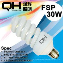 T2/T4 CE Arroved 30W espiral completa lâmpada/espiral/lâmpada de poupança de energia lâmpada 220V/127V