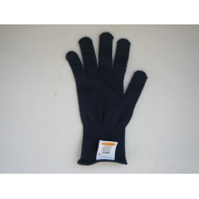 7g String Knitted Black Cotton/Polyester Work Glove