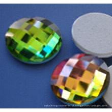 Rodada Flat Back Glass Beads Pedras
