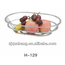 Cesta de frutas de ferro liso, bandeja de frutas, suporte de frutas,